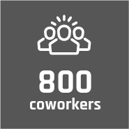 800 coworkers